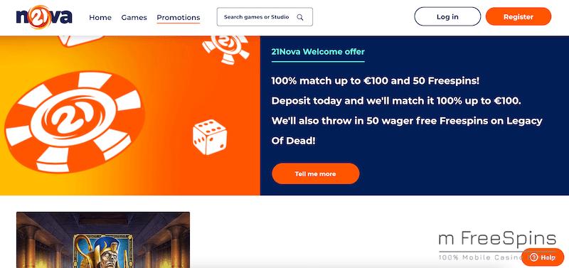 21Nova Mobile Casino Review