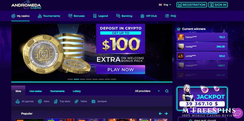 Andromeda Mobile Casino Review