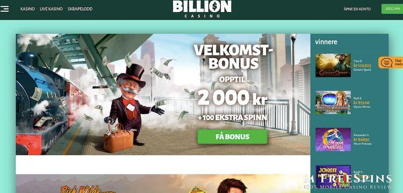 Billion Mobile Casino Review