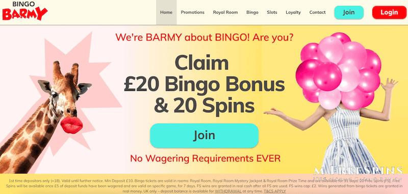 Bingo Barmy Mobile Casino Review