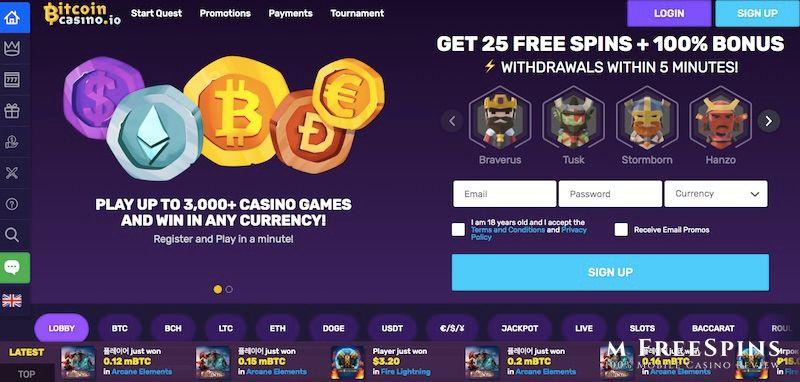 BitcoinCasino.io Mobile Casino Review