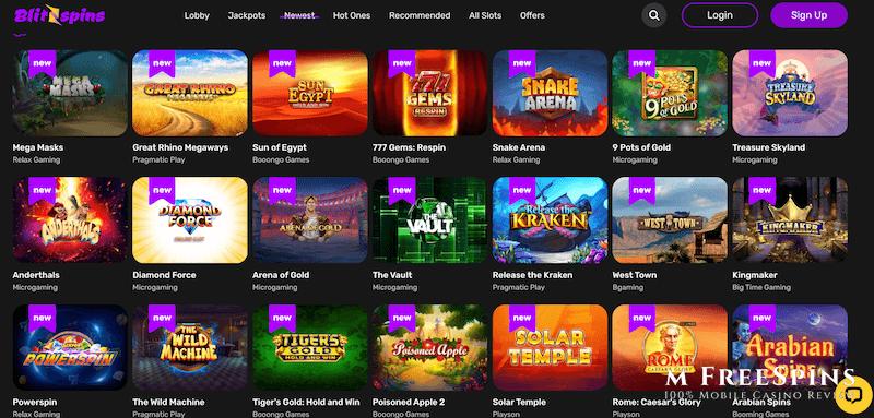BlitzSpins Mobile Casino Review