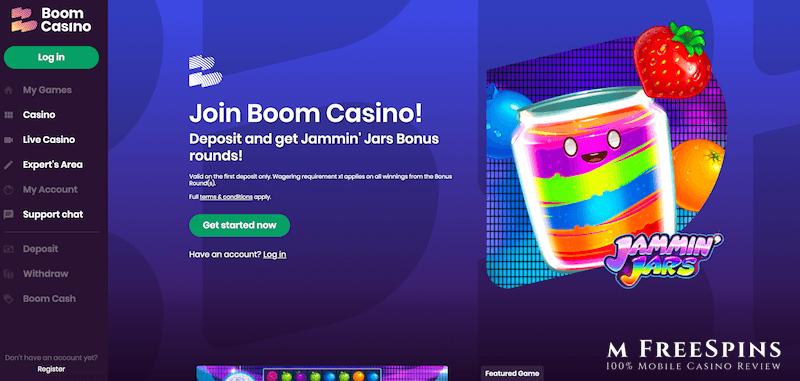 Boom Mobile Casino Review