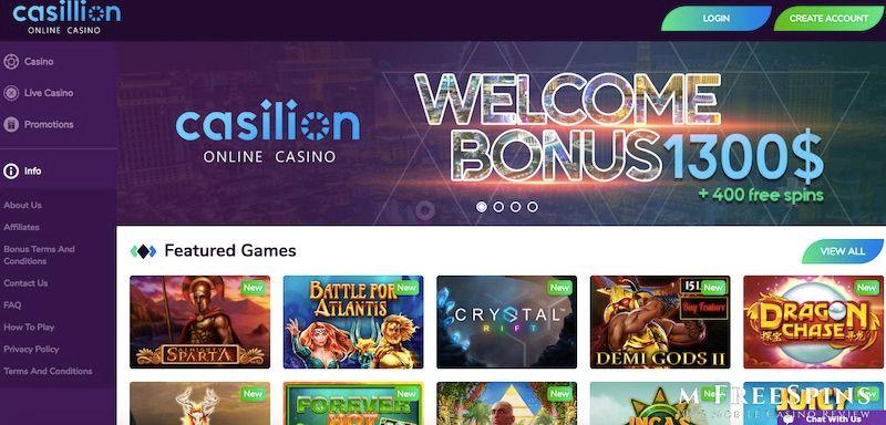 Casillion Mobile Casino Review