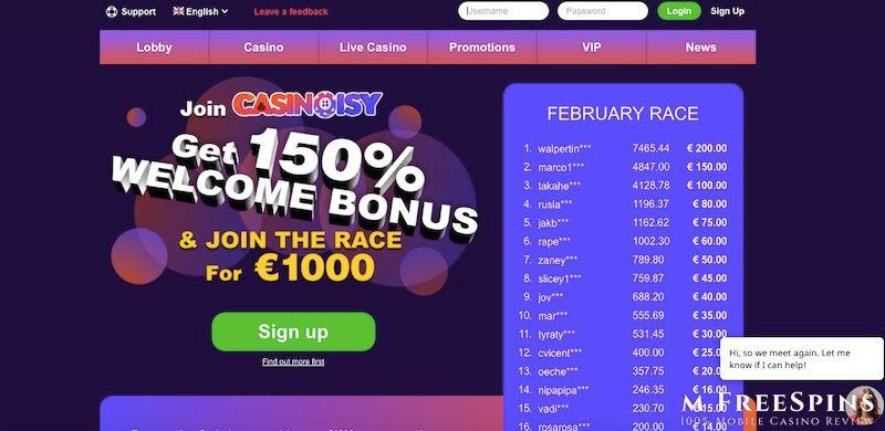 Casinoisy Mobile Casino Review