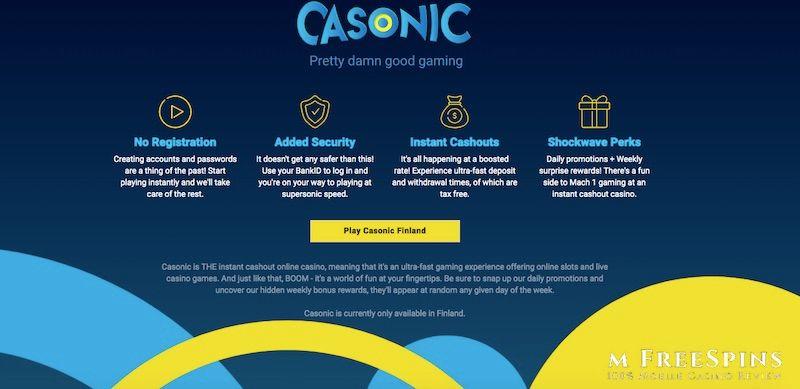 Casonic Mobile Casino Review