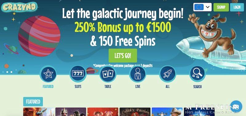 Crazyno Mobile Casino Review