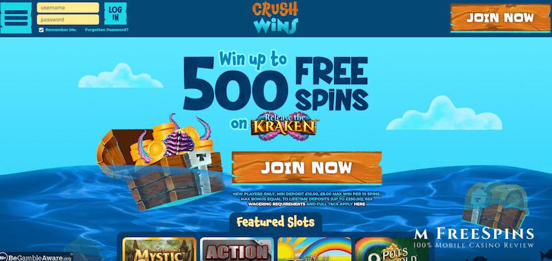 Crush Wins Mobile Casino Review