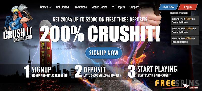 CrushIt Casino bonus