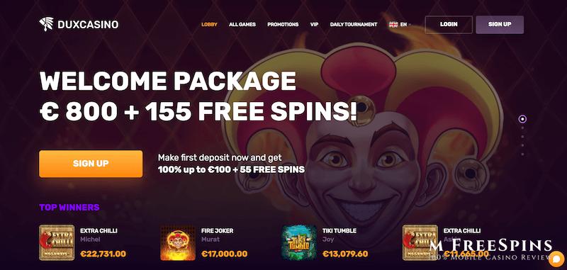 Dux Mobile Casino Review
