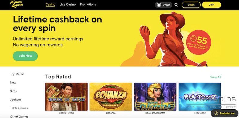 Fortune Legends Mobile Casino Review