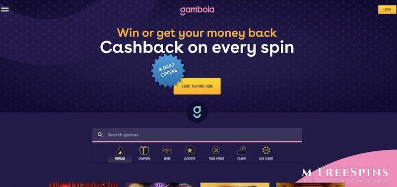 Gambola Mobile Casino Review