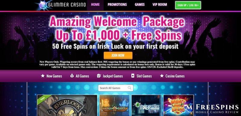Glimmer Mobile Casino Review