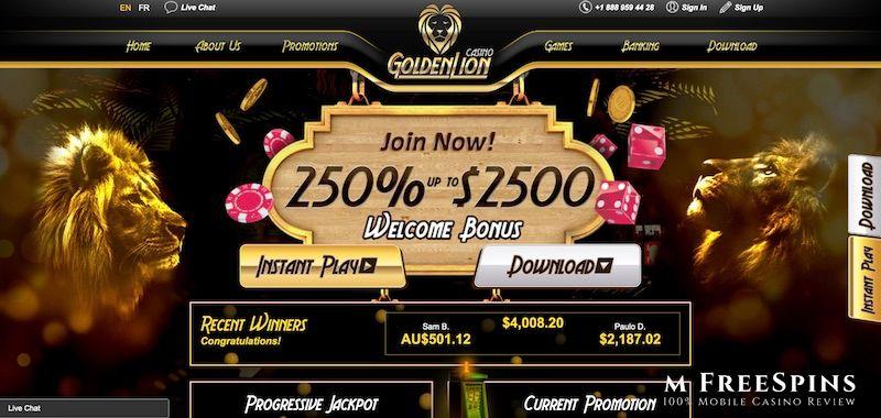 Golden Lion Mobile Casino Review