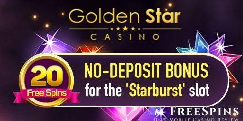 GoldenStar casino no deposit free spins bonus