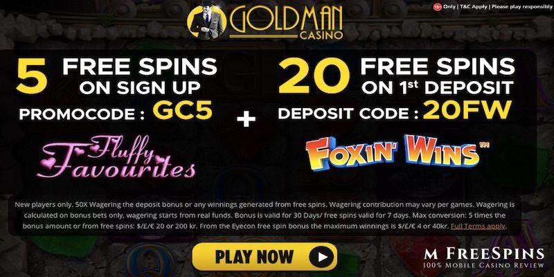Goldman Mobile Casino Review