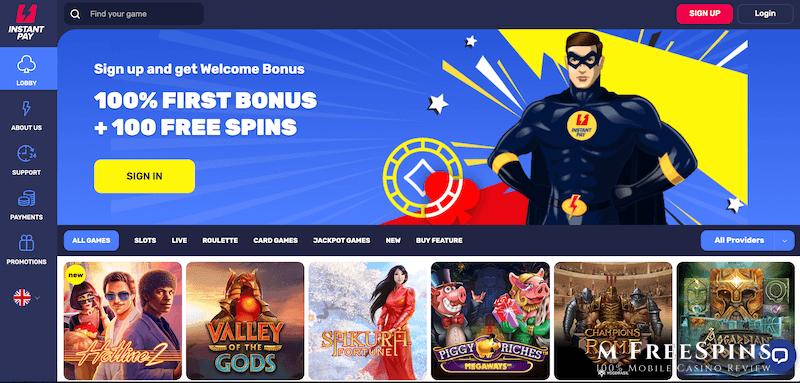 InstantPay Mobile Casino Review