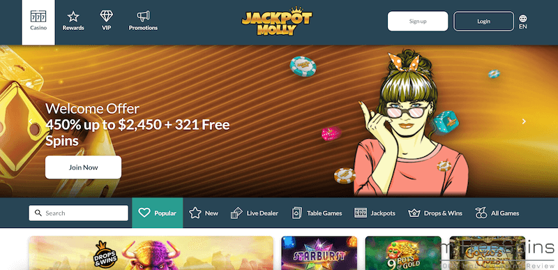 Jackpot Molly Mobile Casino Review