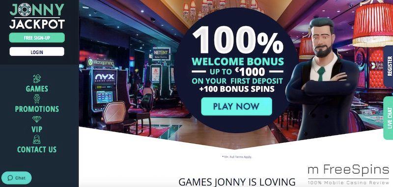 Jonny Jackpot Mobile Casino Review