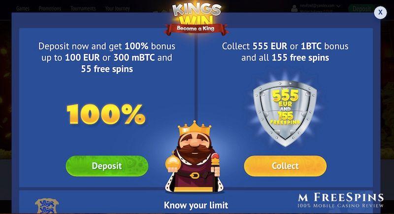 KingsWin Mobile Casino Review