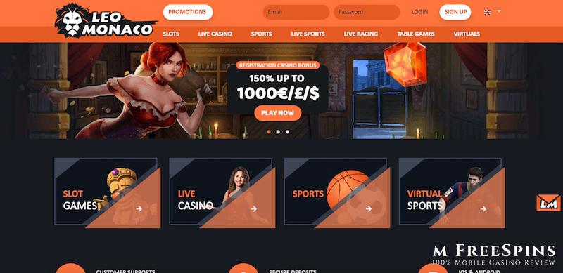 LeoMonaco Mobile Casino Review