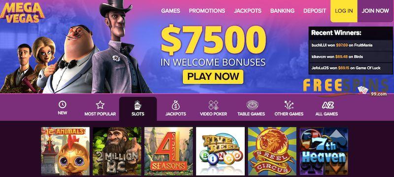 MegaVegas Casino bonus