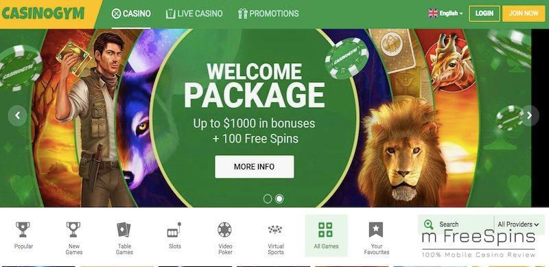 Mobile CasinoGym Review