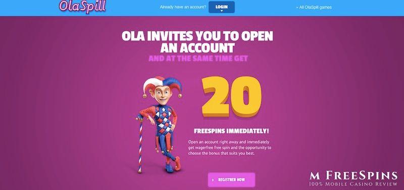 OlaSpill Mobile Casino Review
