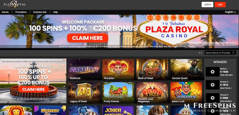 Plaza Royal Mobile Casino Review