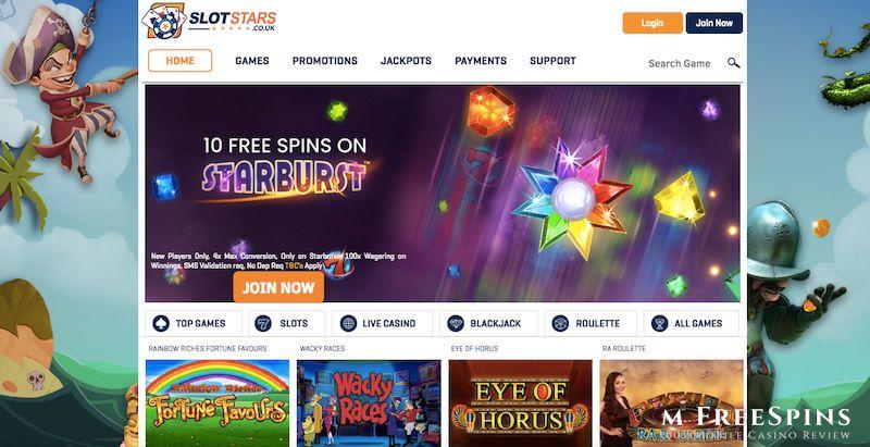 Slot Stars Mobile Casino Review