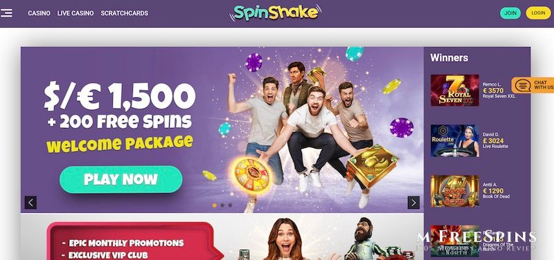 SpinShake Mobile Casino Review