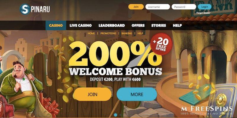 Spinaru Mobile Casino Review