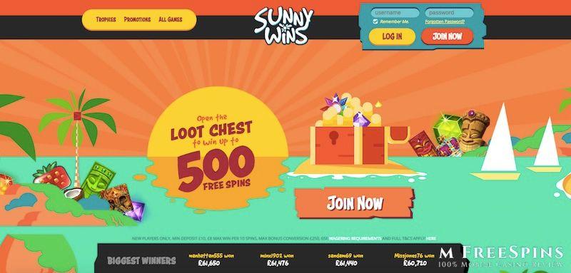Sunny Wins Mobile Casino Review