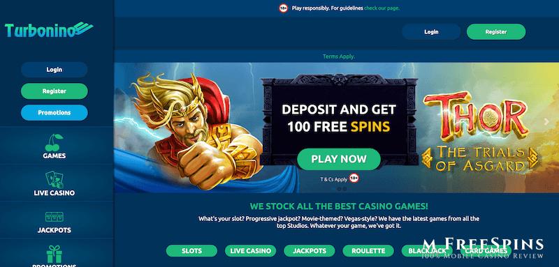 Turbonino Mobile Casino Review