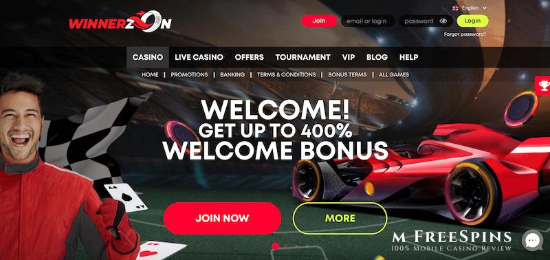 WinnerzOn Mobile Casino Review