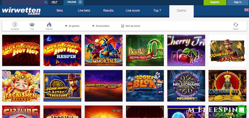 Wirwetten Mobile Casino Review