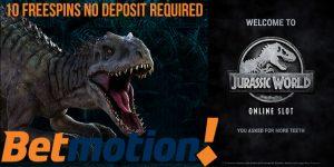betmotion jurassic world free spins no deposit