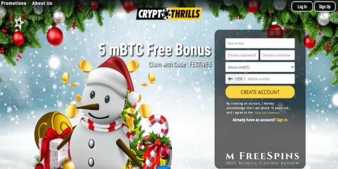 cryptothrills casino christmas calendar 2020