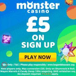 monster casino no deposit bonus
