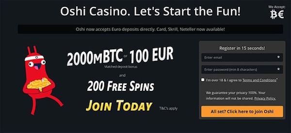 oshi bitcoin casino freespins99