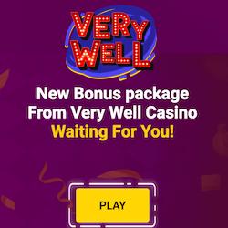 very well casino no deposit bonus